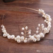 pearl hair accessories 2018 europe hot selling handmade pearl hair jewelry women