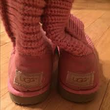 ugg sale pink 63 ugg shoes sale pink knit uggs from s closet on