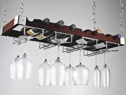 hanging rack for wine glasses that made of heavy gauge metal