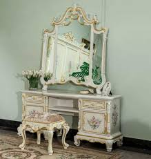 Furniture Style Vanity Ornate Classic Bedroom Vanity With Mirror And Stool Timeless
