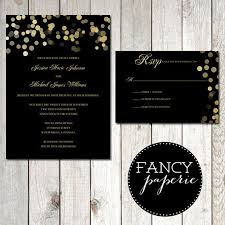 black and gold wedding invitations black and gold glitter wedding invitations rsvp cards 2049556