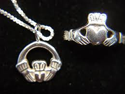 claddagh set sterling silver claddagh set necklace with pendant ring
