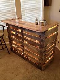 decorate your home bar on a budget with this diy pallet bar kinda