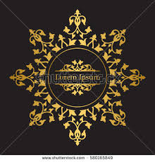 vintage crest logo elements flourishes calligraphic stock vector