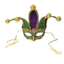 green mardi gras mask mardi gras jester mask 9 purple green gold jester points can