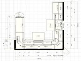 small u shaped kitchen floor plans d house plan design tikspor
