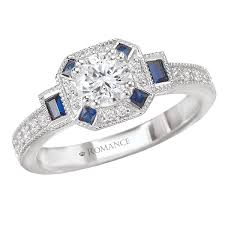collection art deco diamond u0026 sapphire ring