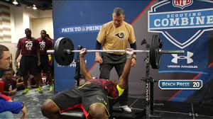 Ideal Bench Press Weight Nfl Scouting Combine Linebacker Bench Press Nfl Videos