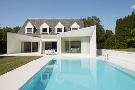 Cool Houses With Pools House And Swimming Pool Front Clean Lined Residence With Swimming