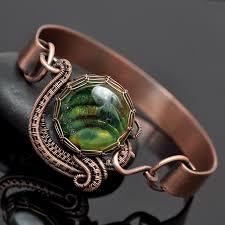 weave wrap bracelet images Wire wrap bangles and bracelets nicole hanna jewelry jpg