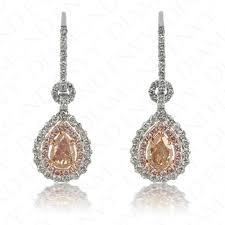 pink diamond earrings pink diamond earrings fancy brown pink diamonds 1 15ct diamond envy