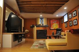 tidy basement remodeling ideas with family room furnishing design