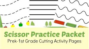 free pre k 1st grade scissor practice worksheets southern savers