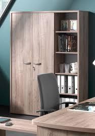 bureau avec etagere armoire de bureau contemporaine 2 portes avec étagère chêne