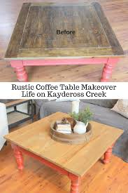 coffee table makeover life on kaydeross creek