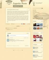 vintage tumblr themes free html zeppelin vintage style tumblr theme by cloudsthemes themeforest