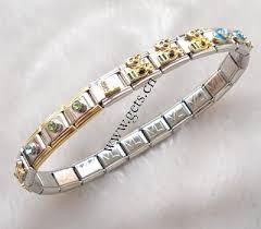 metal bracelet charms images Stainless steel italian charm link jpg