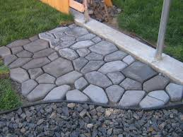concrete cobblestone path hometalk