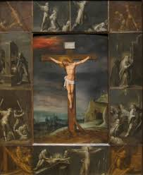 file crucifixion with scenes of martyrdom of the apostles by frans