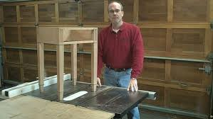 Free Shaker End Table Plans by Cherry End Table Night Stand Rails And Assembly Pt 2 Youtube