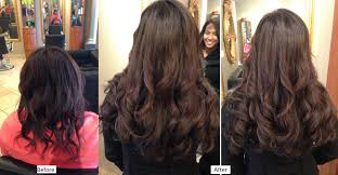 Thin Hair Extensions Before And After by Hair Extensions U0026 Keratin U0027s U2014 Salon Belladonna