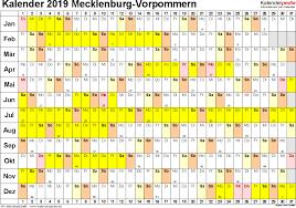 Kalender 2018 Mv Kalender 2019 Mecklenburg Vorpommern Ferien Feiertage Word Vorlagen