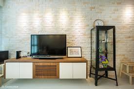 z l construction singapore tv console is designed with lourve