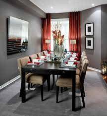 contemporary dining room decorating ideas dining room cream modern slipcovers red wall master lacquer walls