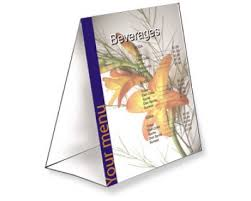standard table tent card size table tents