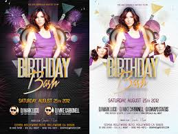17 birthday flyer free psd images birthday party flyer templates