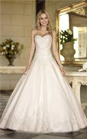 Wedding Dresses Ball Gown Ball Gown Strapless Ivory Satin Lace Corset Wedding Dress