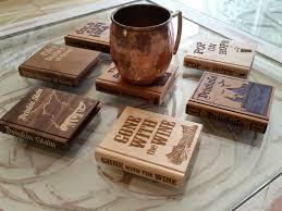 book shape coasters you pick set of 4 drinking puns
