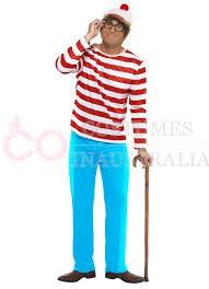Wheres Waldo Halloween Costume Mens Wheres Wally Waldo Licensed Cartoon Costume Book Week