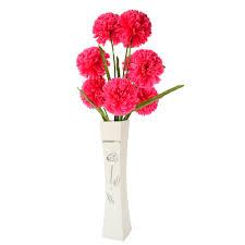 Flowers For Floor Vases Online Shop Large Tall Metal White Golden Floor Vases With Silk