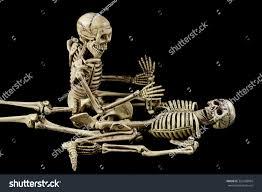 Halloween Pictures Skeletons Halloween Sexskeletons Having On Black Stock Photo 325168964