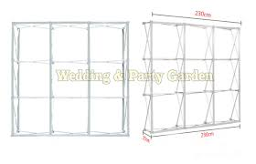 backdrop frame flower wall stand aluminum flower backdrop frame quality