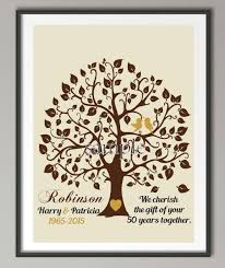 50 wedding anniversary personalized 50th wedding anniversary gifts family tree wall