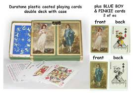 Play Pinochle Double Deck by Duratone Pinochle Playing Cards Blue Boy U0026 Pinkie