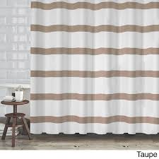 Colorful Fabric Shower Curtains Hotel Quality Waffle Weave Stripe Fabric Shower Curtain 70