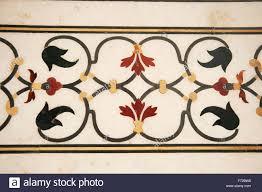 marble floor tiles design taj mahal agra uttar pradesh india