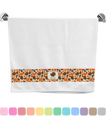 traditional thanksgiving bath towel personalized baby n toddler