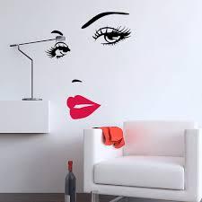 diy home decor wall 2pcs beautyful lady face portrait creative diy home decoration wall