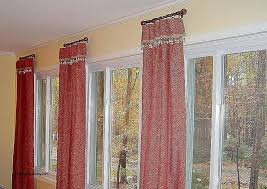 Curtain Rods Either Side Window Curtain Rods Traditional Dining Room By Design By