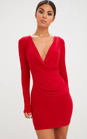 plunge dresses v neck dresses online prettylittlething aus