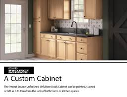 kitchen sink base cabinet at lowes project source 30 in w x 35 in h x 23 75 in d