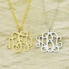 Personalized Monogram Necklace Discount Personalized Monogram Jewelry 2017 Personalized