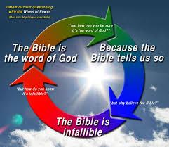online debate christianity is logically a circular reasoning