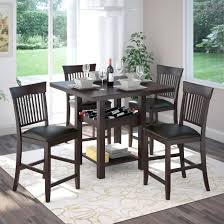 Dining Room Table With Wine Rack by Corliving 5pc Bistro 36