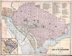 Large Maps Of The United States by Large Detailed Old Map Of The City Of Washington Dc 1880