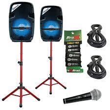 2 american audio box 8 8 active led light show speakers w